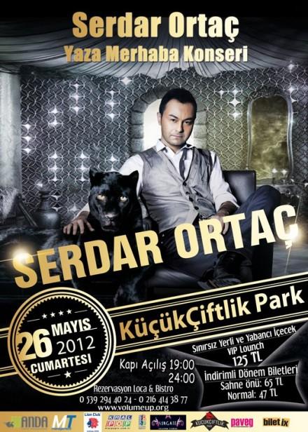 Serdar Ortaç'tan yazın ilk konseri