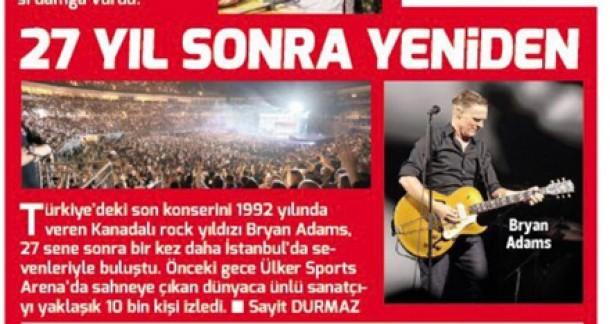 (Turkish) Bryan Adams 27 Yıl Sonra Yeniden